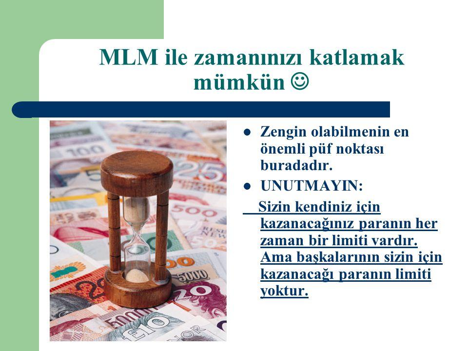 MLM ile zamanınızı katlamak mümkün 