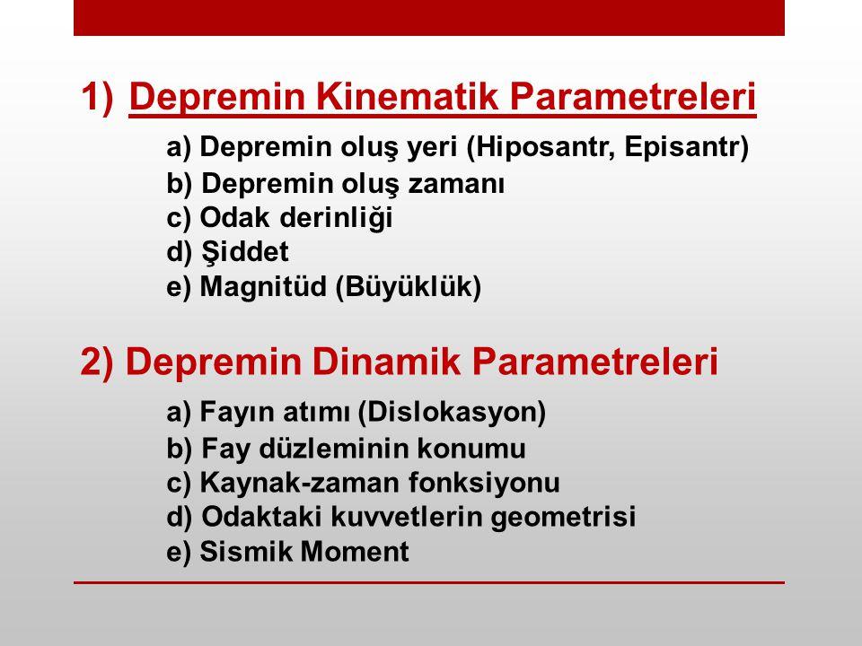 Depremin Kinematik Parametreleri