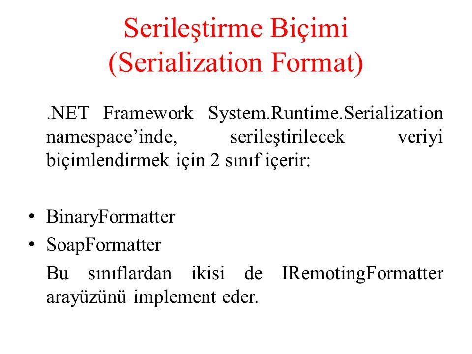 Serileştirme Biçimi (Serialization Format)