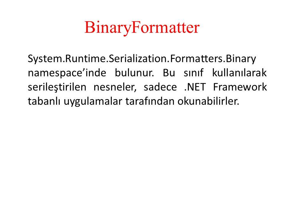 BinaryFormatter