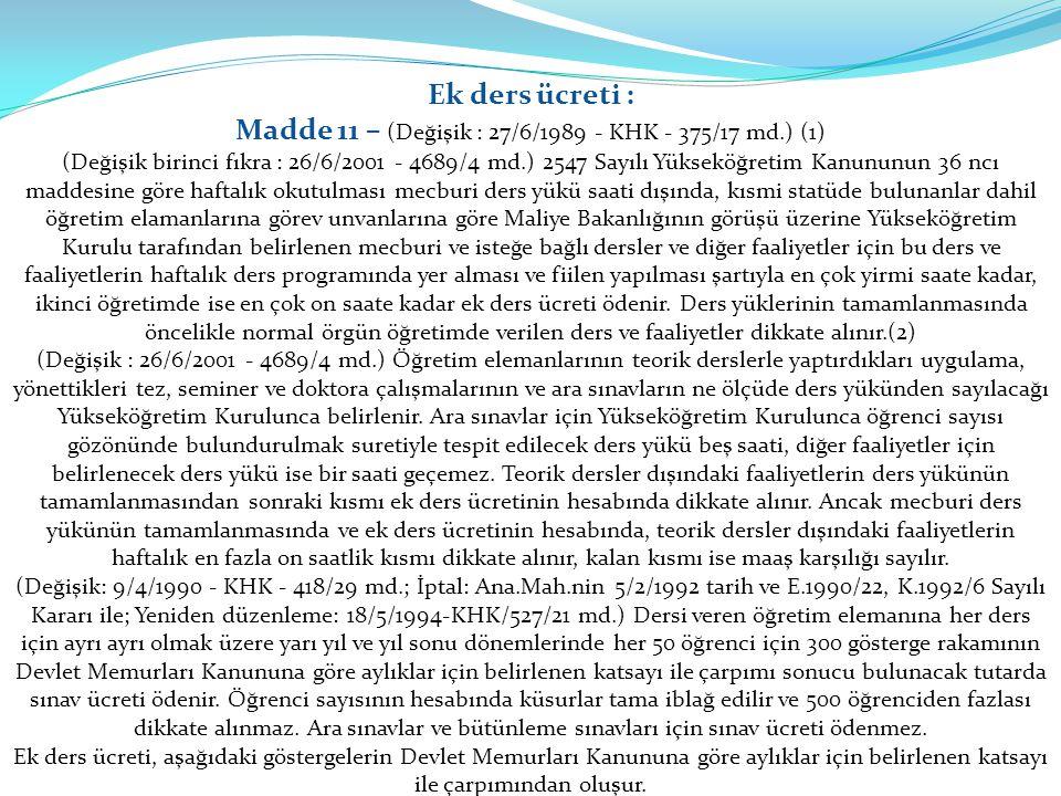 Madde 11 – (Değişik : 27/6/1989 - KHK - 375/17 md.) (1)