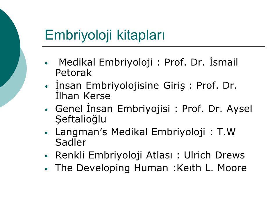 Embriyoloji kitapları