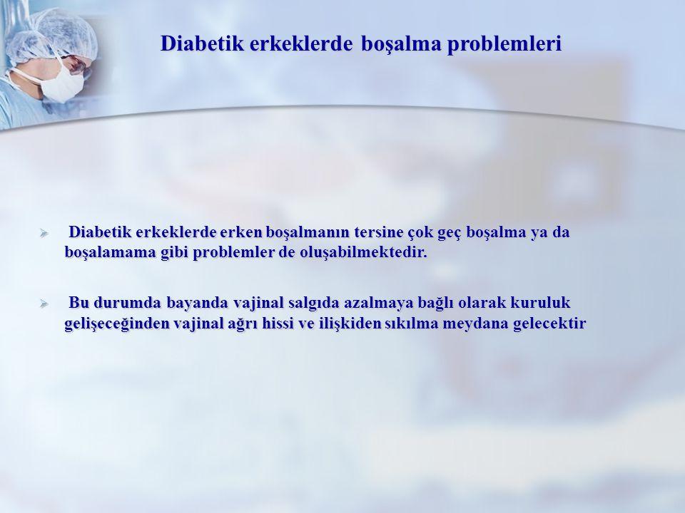 Diabetik erkeklerde boşalma problemleri