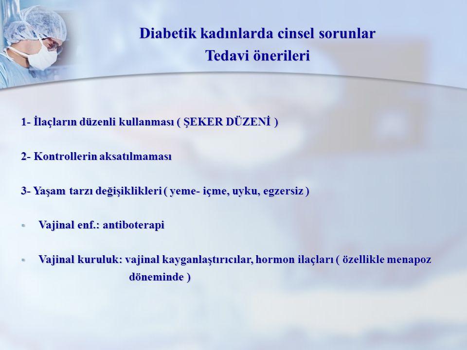 Diabetik kadınlarda cinsel sorunlar
