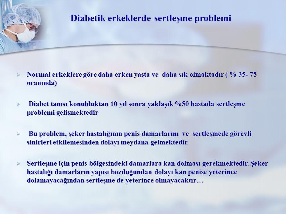 Diabetik erkeklerde sertleşme problemi
