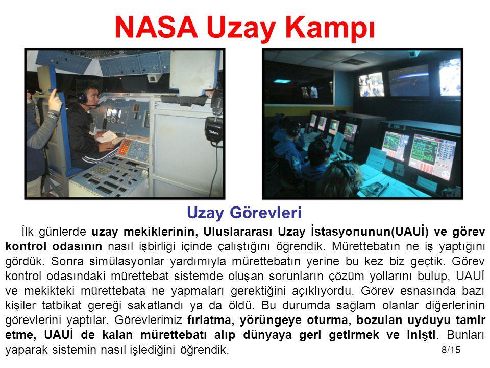 NASA Uzay Kampı Uzay Görevleri