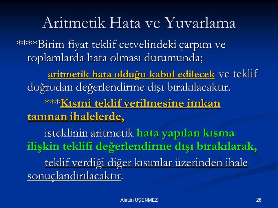 Aritmetik Hata ve Yuvarlama