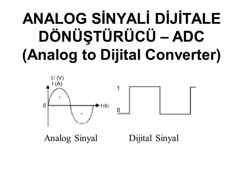 ANALOG SİNYALİ DİJİTALE DÖNÜŞTÜRÜCÜ – ADC (Analog to Dijital Converter)