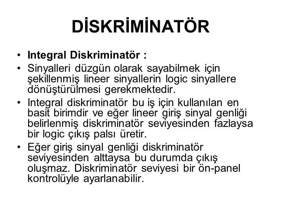 DİSKRİMİNATÖR Integral Diskriminatör :