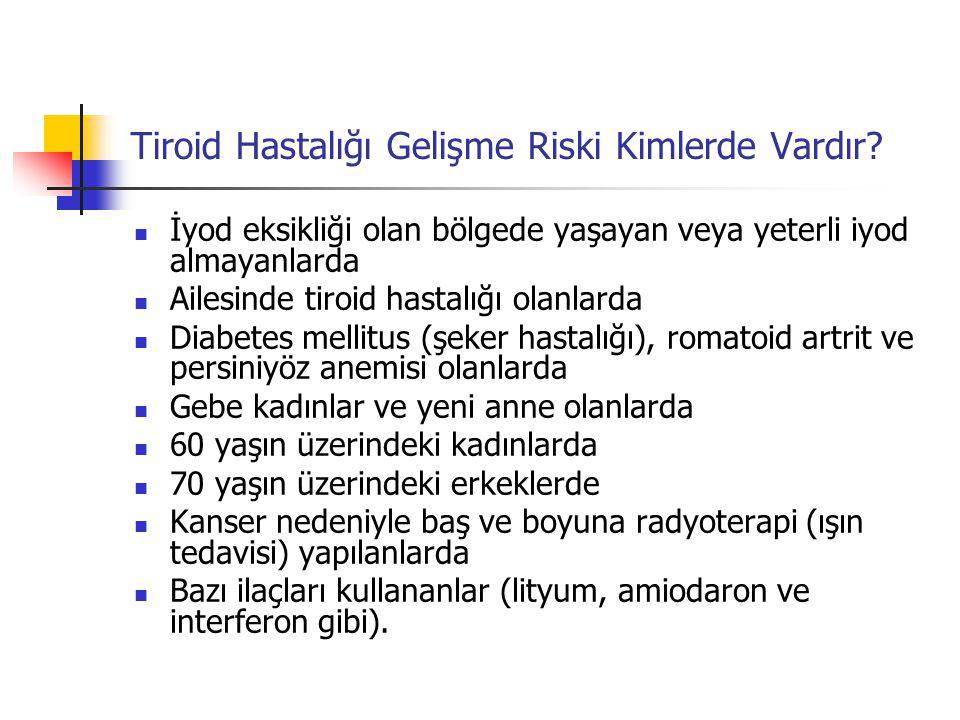 Tiroid Hastalığı Gelişme Riski Kimlerde Vardır