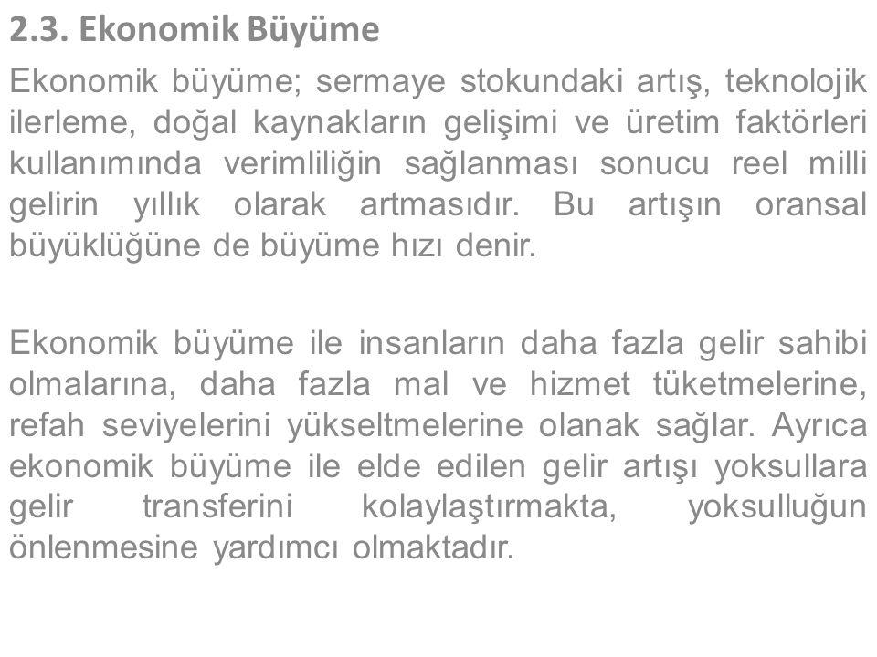 2.3. Ekonomik Büyüme