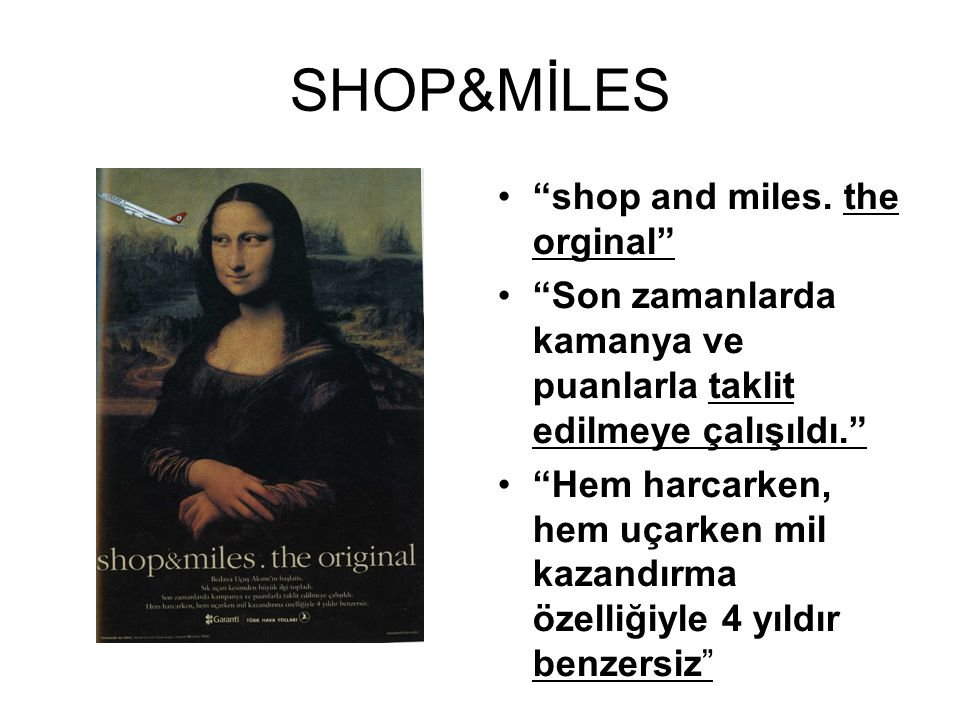 SHOP&MİLES shop and miles. the orginal