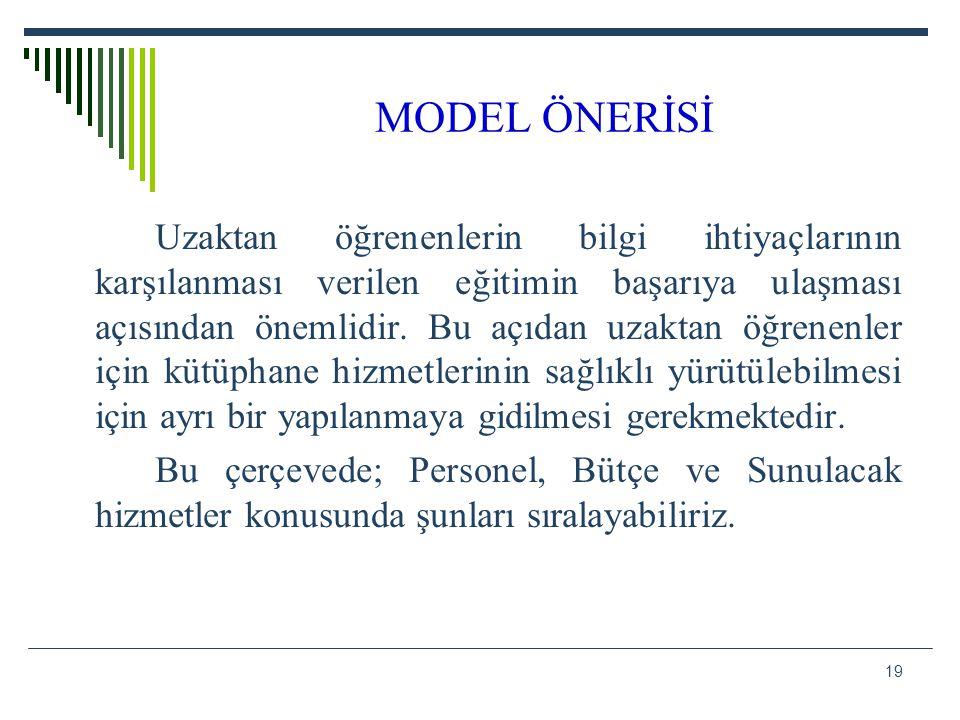 MODEL ÖNERİSİ