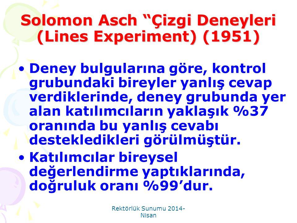Solomon Asch Çizgi Deneyleri (Lines Experiment) (1951)