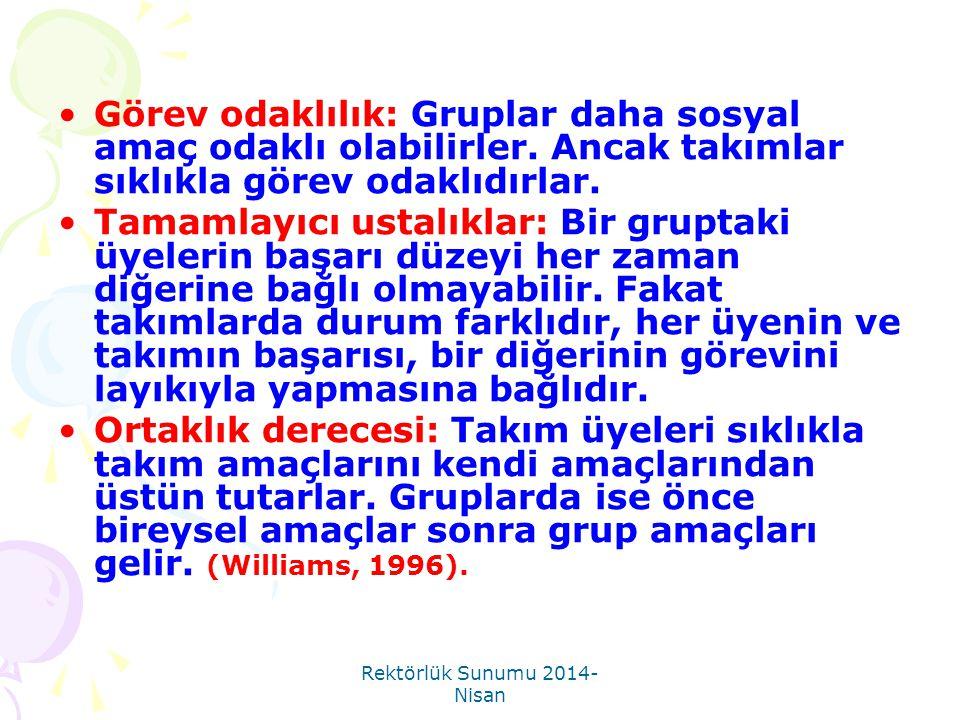 Rektörlük Sunumu 2014-Nisan