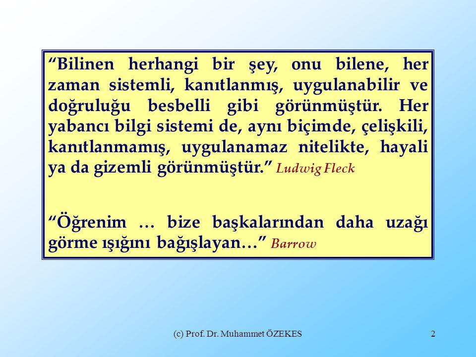 (c) Prof. Dr. Muhammet ÖZEKES