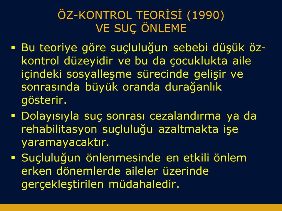 ÖZ-KONTROL TEORİSİ (1990) VE SUÇ ÖNLEME
