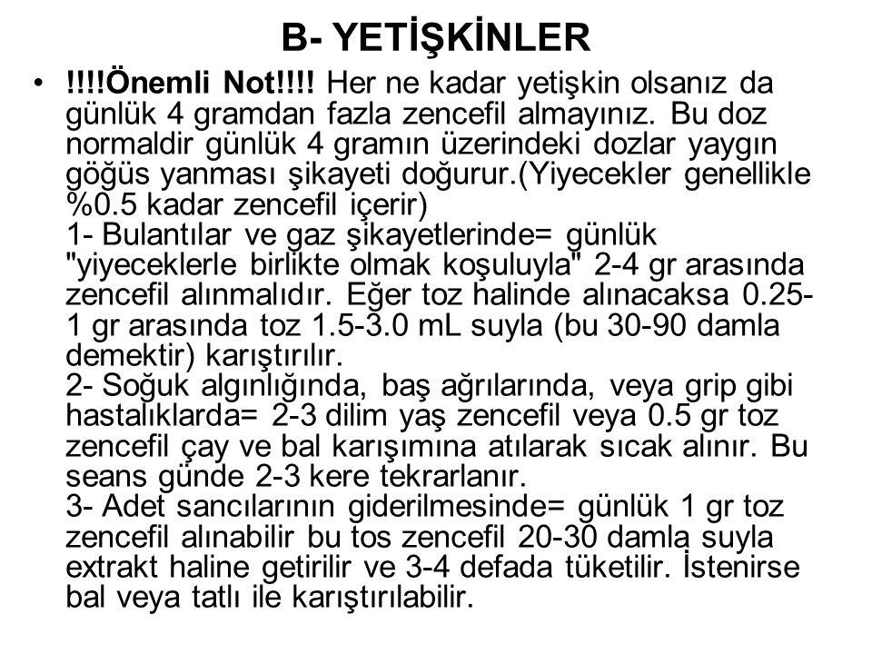 B- YETİŞKİNLER
