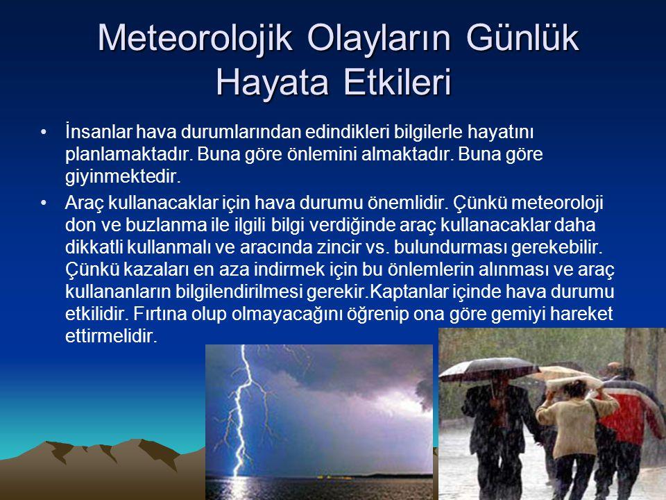 Meteorolojik Olayların Günlük Hayata Etkileri