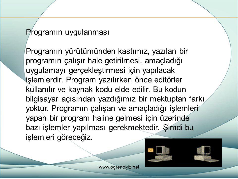 Programın uygulanması