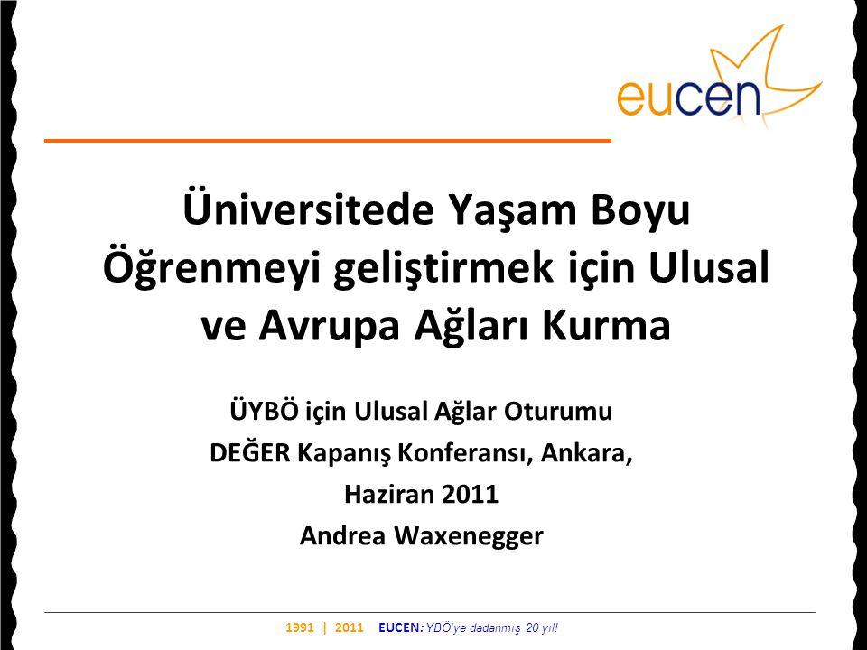 ÜYBÖ için Ulusal Ağlar Oturumu DEĞER Kapanış Konferansı, Ankara,