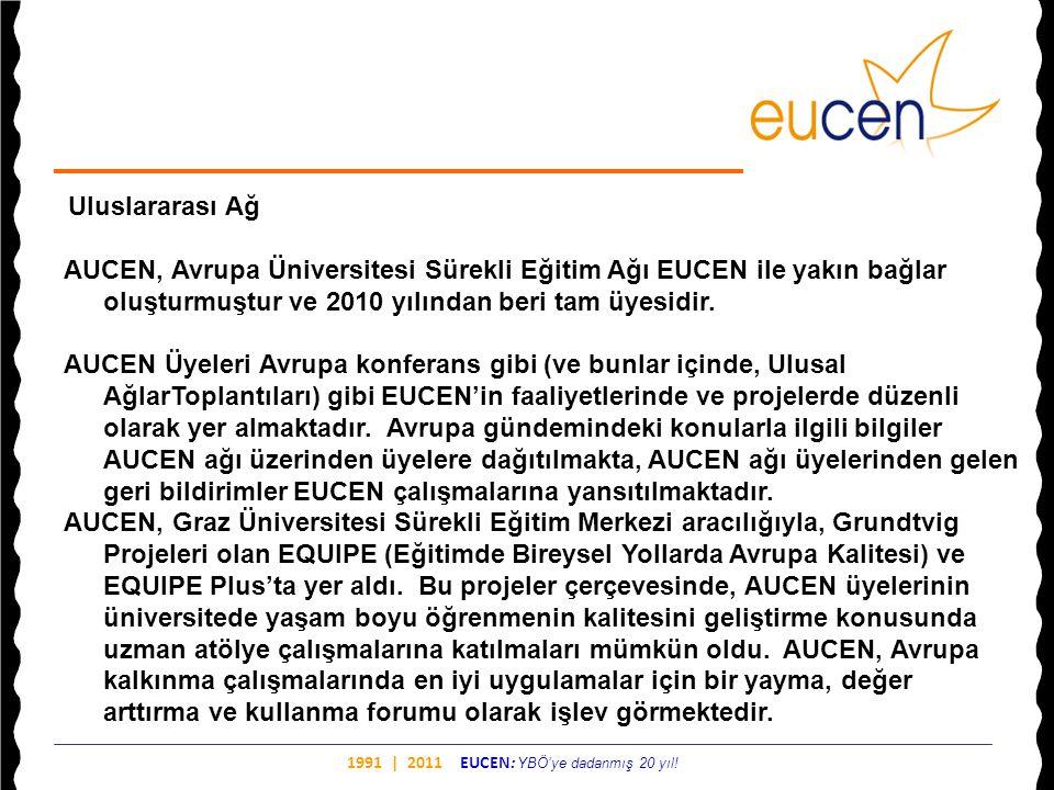 AUCEN, Avrupa Üniversitesi Sürekli Eğitim Ağı EUCEN ile yakın bağlar