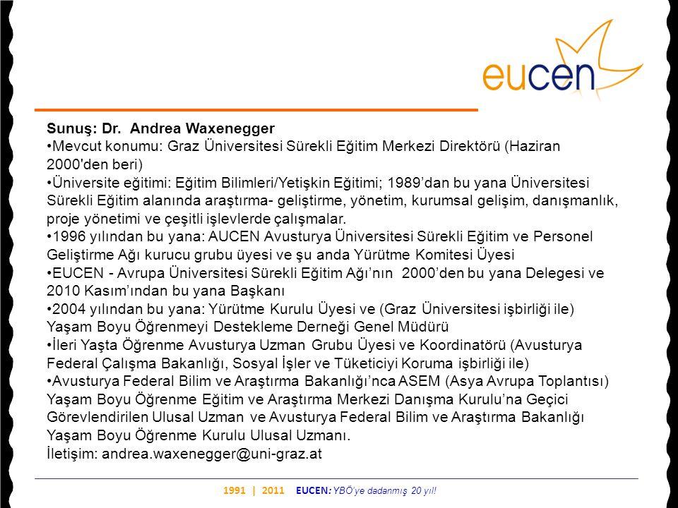 Sunuş: Dr. Andrea Waxenegger