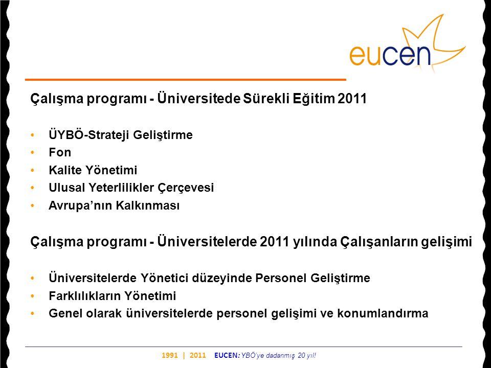 Çalışma programı - Üniversitede Sürekli Eğitim 2011