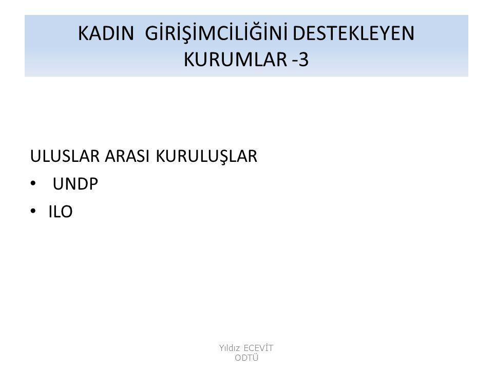 KADIN GİRİŞİMCİLİĞİNİ DESTEKLEYEN KURUMLAR -3