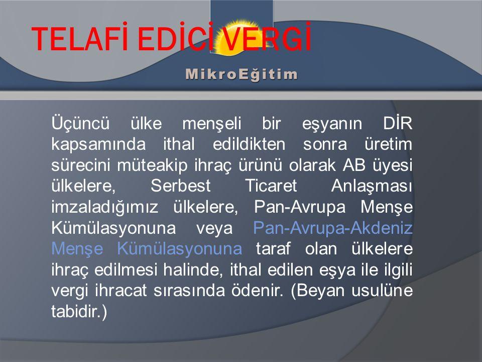 TELAFİ EDİCİ VERGİ