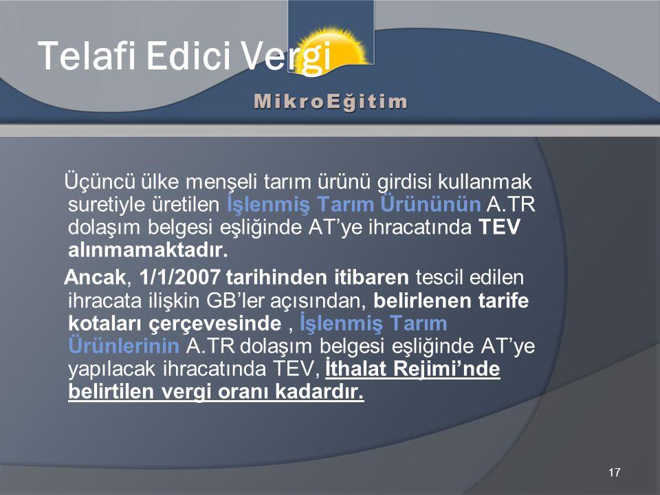 Telafi Edici Vergi
