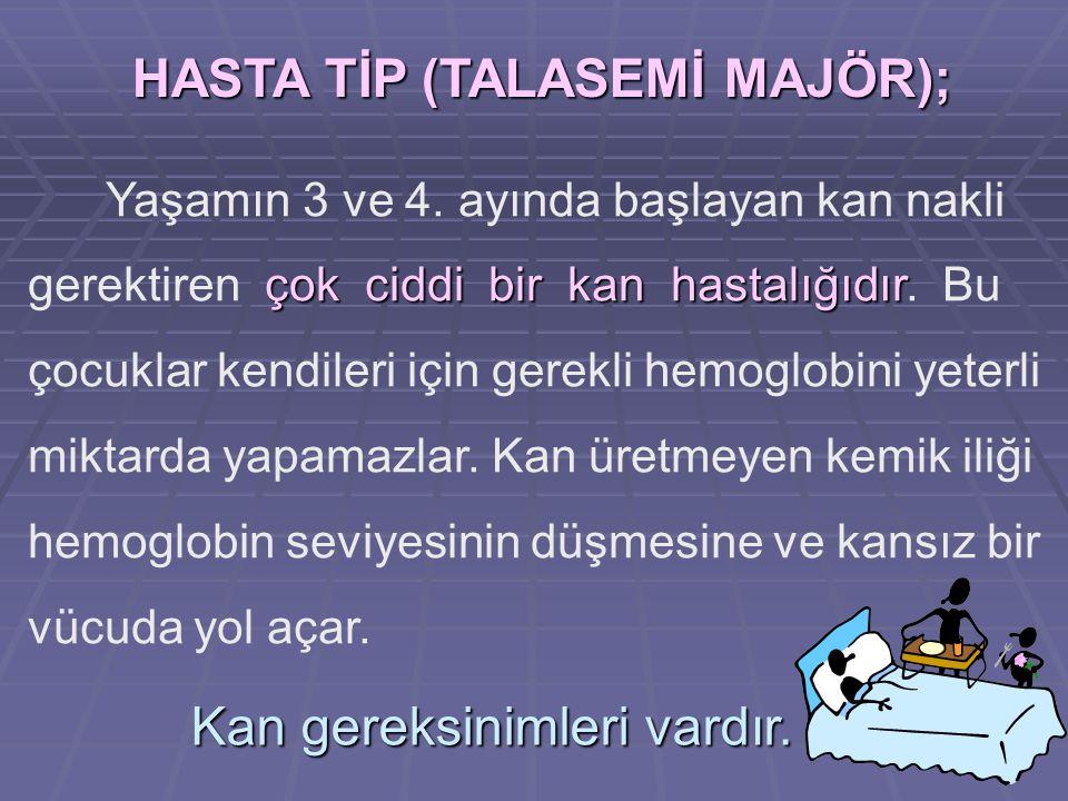 HASTA TİP (TALASEMİ MAJÖR);