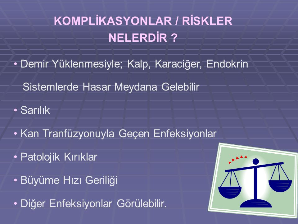 KOMPLİKASYONLAR / RİSKLER NELERDİR
