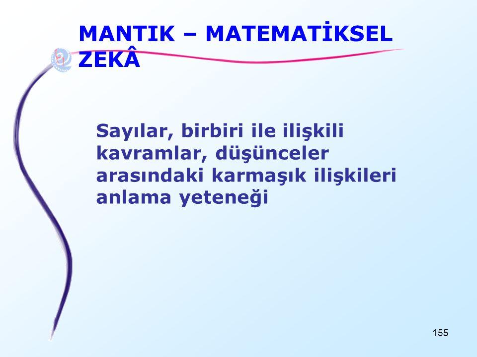 MANTIK – MATEMATİKSEL ZEKÂ