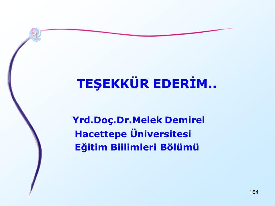 Yrd.Doç.Dr.Melek Demirel
