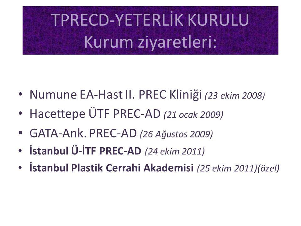 TPRECD-YETERLİK KURULU Kurum ziyaretleri: