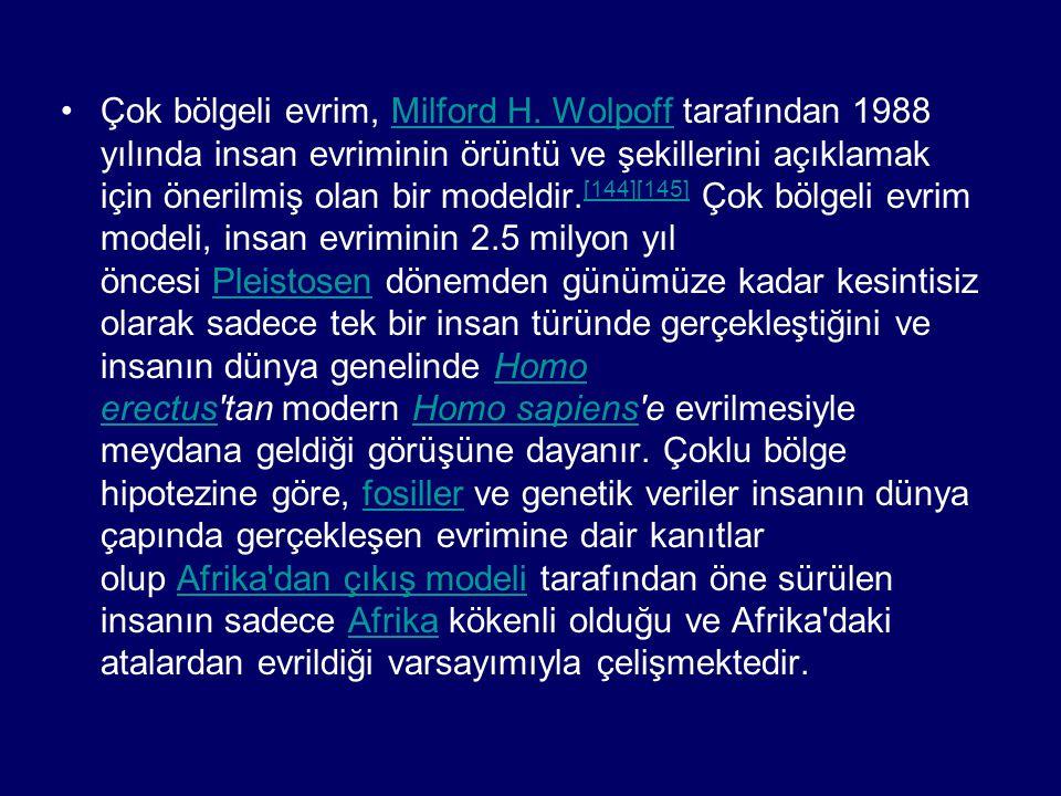 Çok bölgeli evrim, Milford H