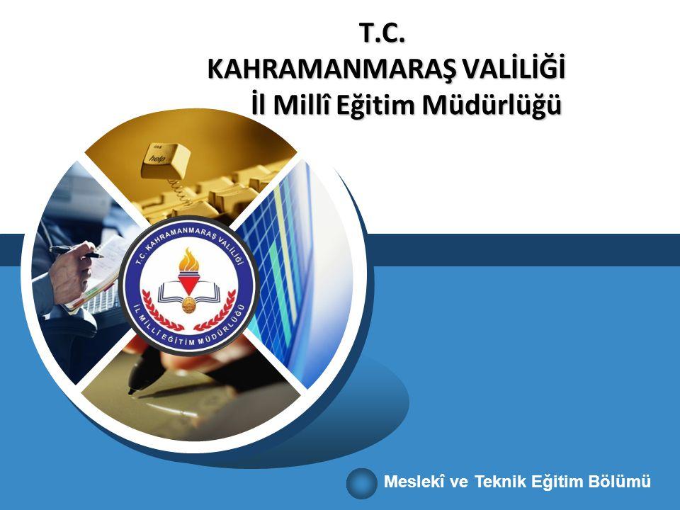 T.C. KAHRAMANMARAŞ VALİLİĞİ İl Millî Eğitim Müdürlüğü