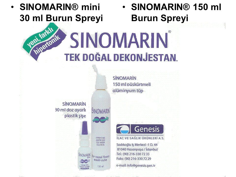 SINOMARIN® mini 30 ml Burun Spreyi