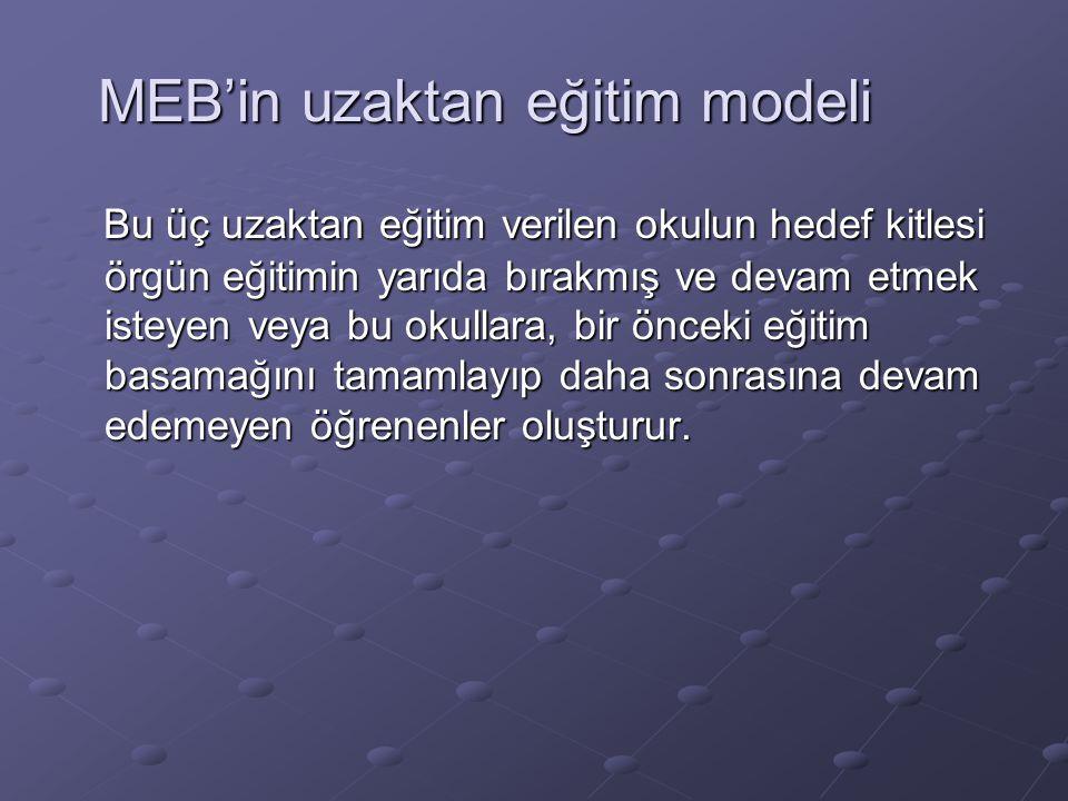 MEB'in uzaktan eğitim modeli