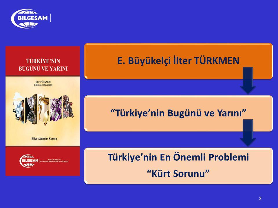 E. Büyükelçi İlter TÜRKMEN Türkiye'nin Bugünü ve Yarını