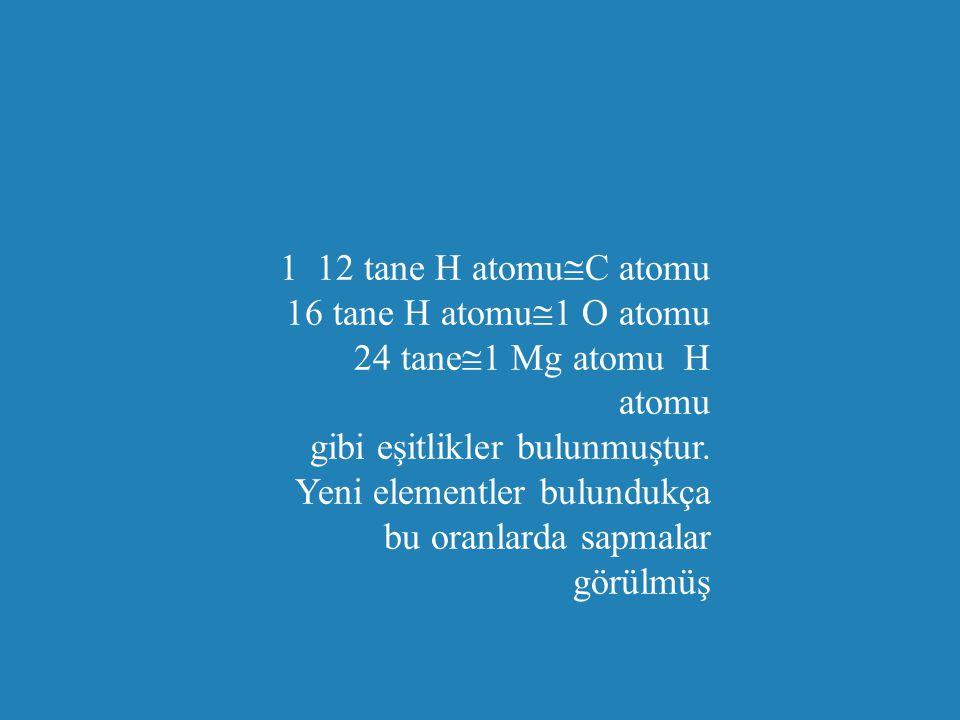 1 12 tane H atomuC atomu 16 tane H atomu1 O atomu 24 tane1 Mg atomu H atomu gibi eşitlikler bulunmuştur.