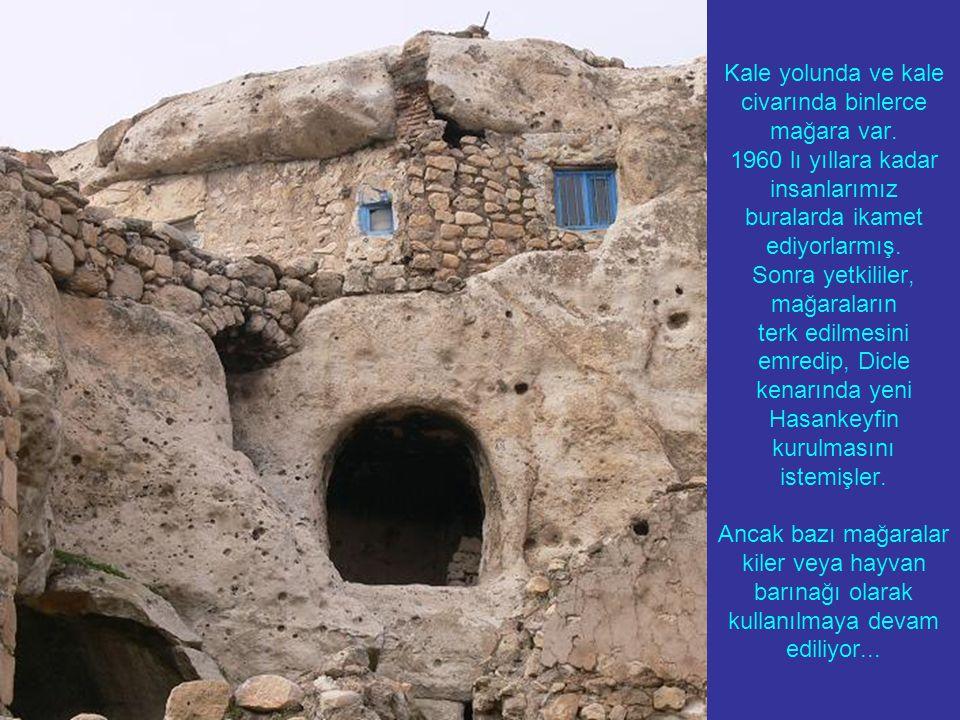 Kale yolunda ve kale civarında binlerce mağara var