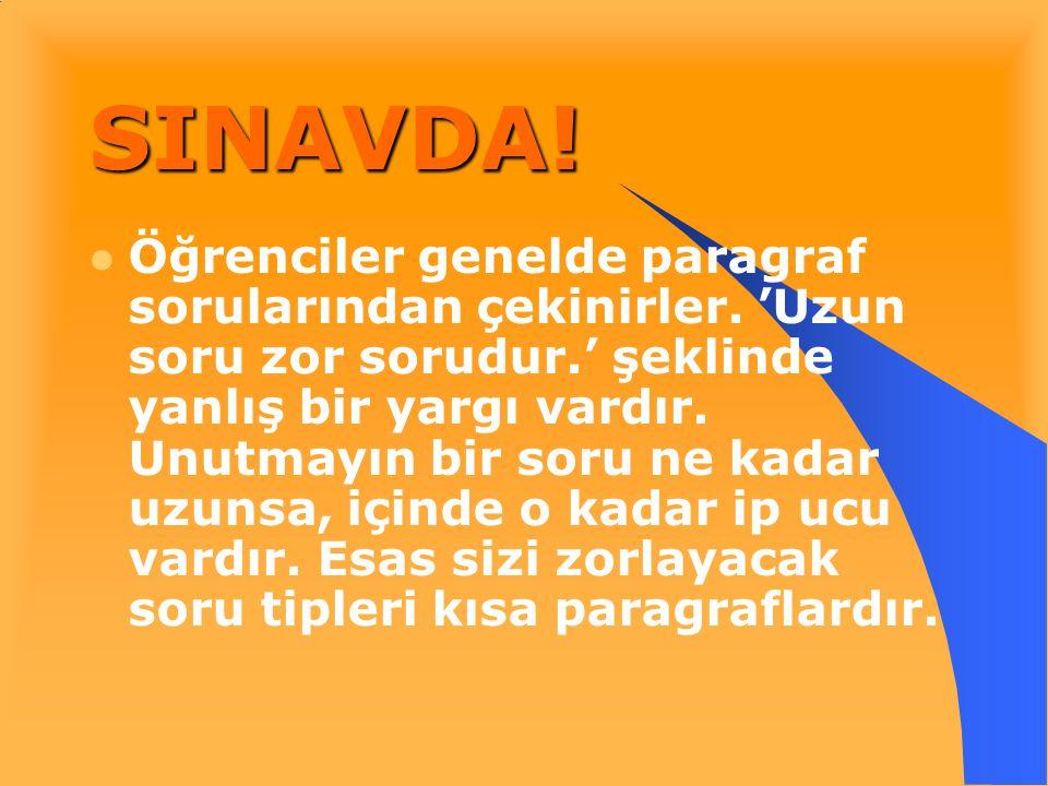 SINAVDA!