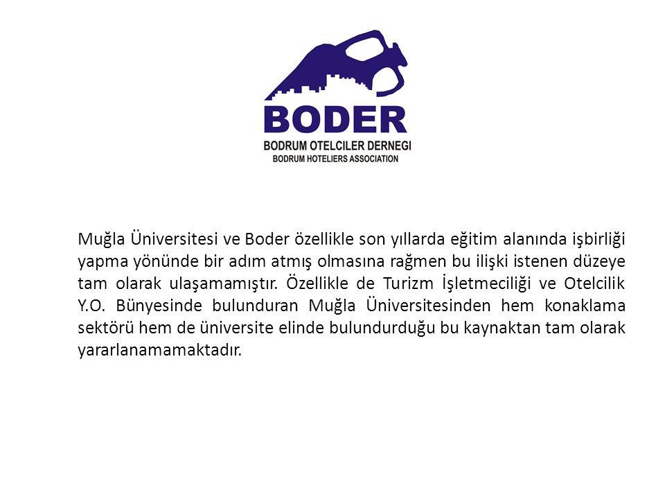 Muğla Üniversitesi ve Boder özellikle son yıllarda eğitim alanında işbirliği yapma yönünde bir adım atmış olmasına rağmen bu ilişki istenen düzeye tam olarak ulaşamamıştır.