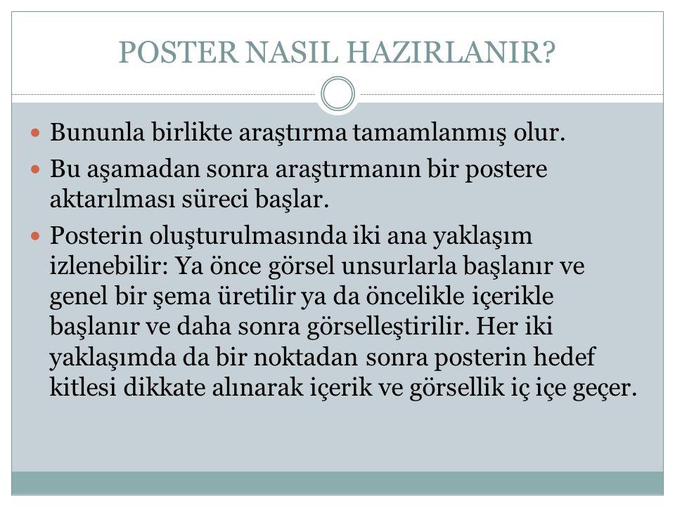 POSTER NASIL HAZIRLANIR