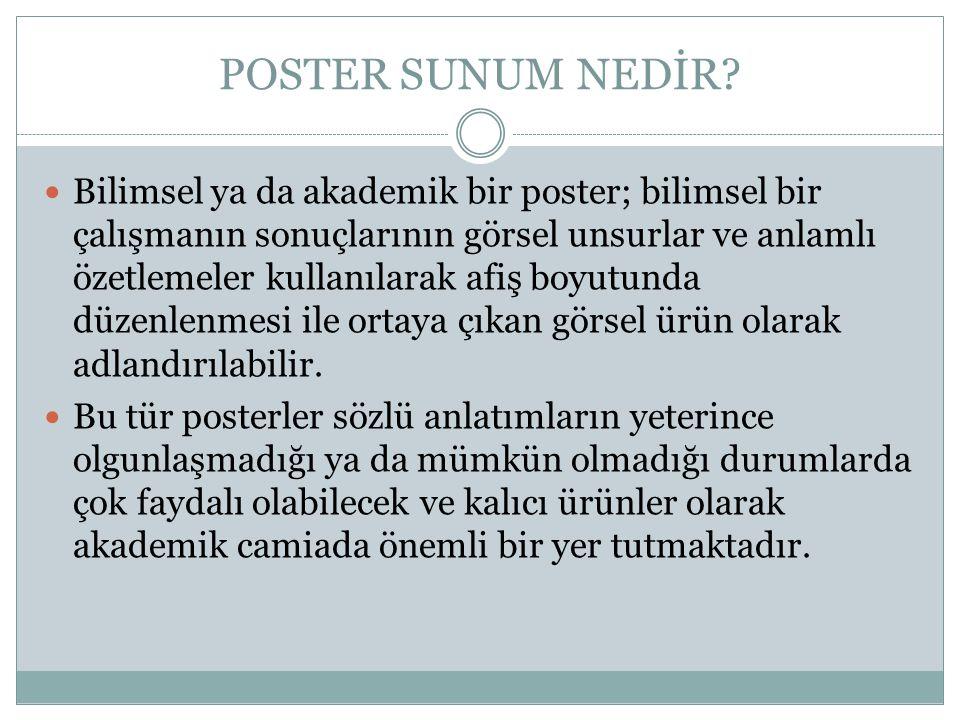 POSTER SUNUM NEDİR