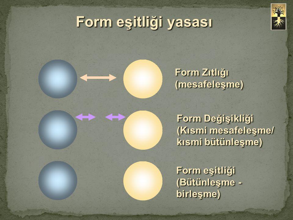 Form eşitliği yasası Form Zıtlığı (mesafeleşme)