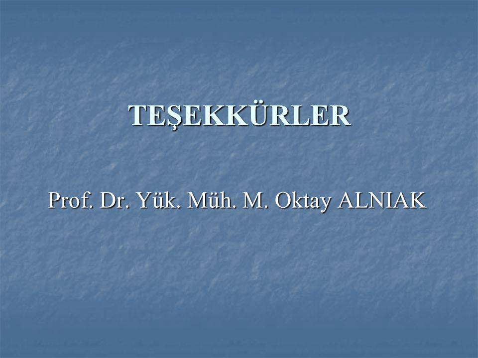 Prof. Dr. Yük. Müh. M. Oktay ALNIAK