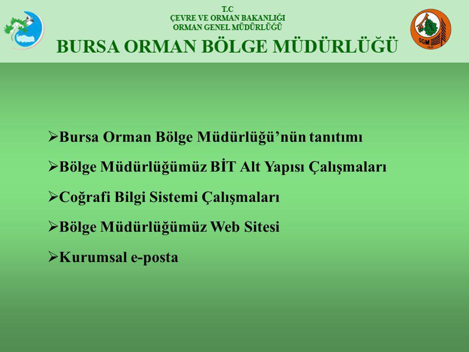 Bursa Orman Bölge Müdürlüğü'nün tanıtımı